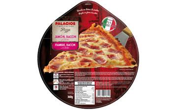 Pizza Jamón Bacon Queso